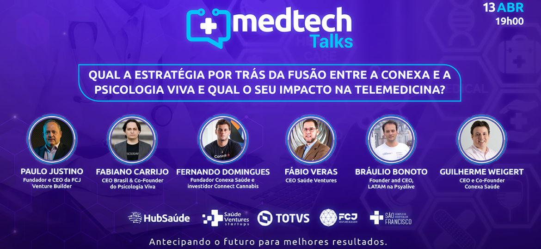 Qual a estratégia por trás da fusão entre a Conexa e a Psicologia Viva e qual o seu impacto na telemedicina?